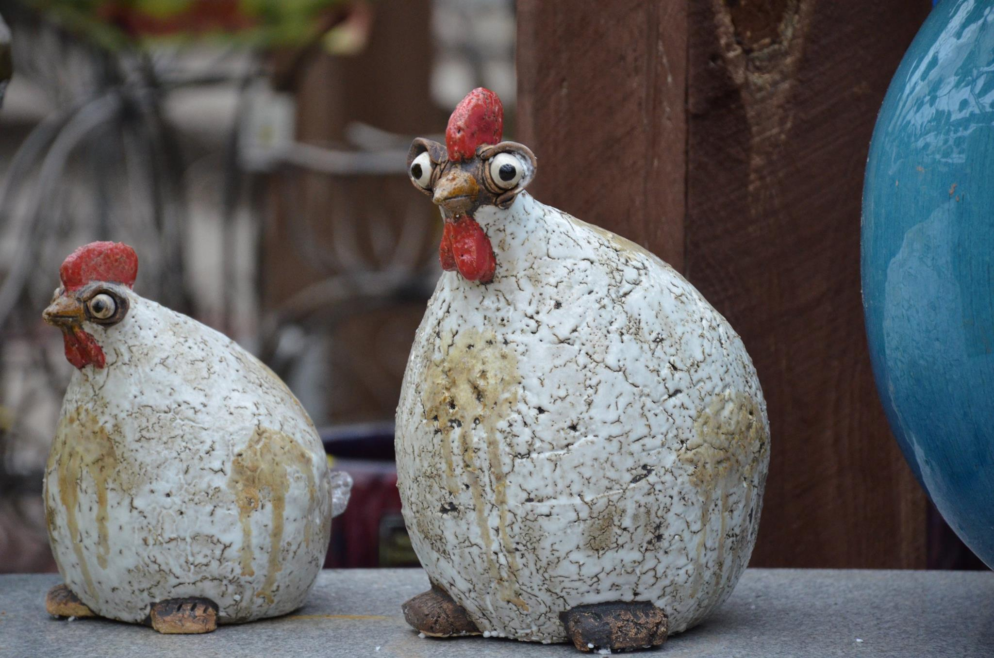 Garden Art Chickens