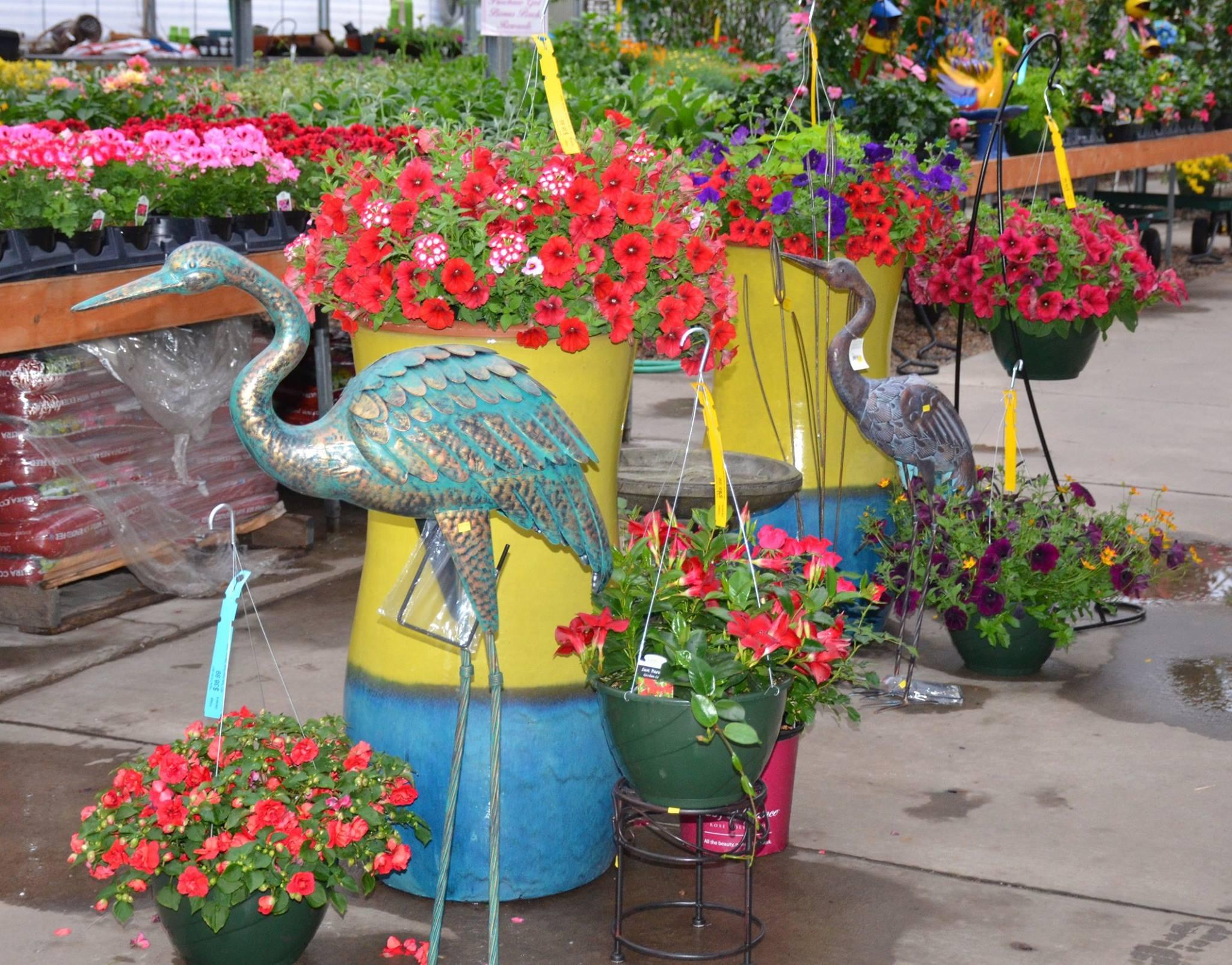 Greenhouse Baskets and Garden Art